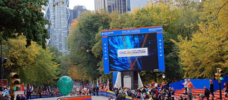 Impact's LED Screens Set the Pace for the 2010 ING New York City Marathon